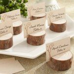 These birch place card holders are the perfect accessory to a rustic, shabby chic, or country inspired wedding.