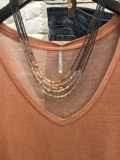 Color Thread   Sweet LOLA = awesome combo for Early Fall! 🍂🍄 $18 tee and $34 Necklace