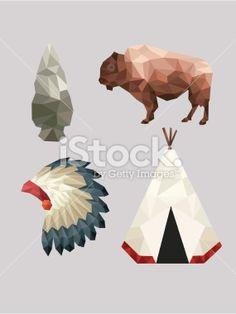Native American Icons Royalty Free Stock Vector Art Illustration