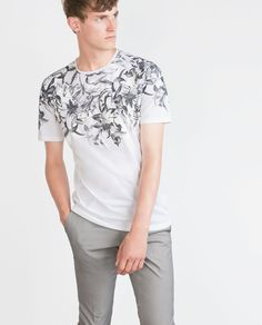 Image 1 of PATTERNED T-SHIRT from Zara