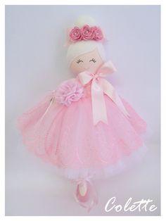 Trellis Design  Ballerina Handmade Doll...Colette