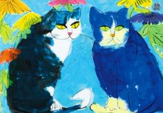 Walasse Ting, Two Cats