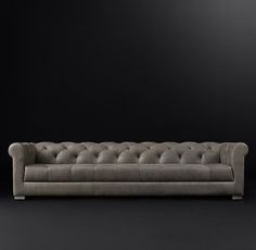 Modena Chesterfield Leather Sofa