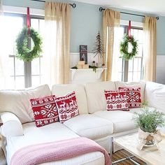 A couple years ago I hung wreaths on the inside of the windows in our family room. I personally loved how it made the room feel and smell 😘 This was our first Christmas in this room after I added the shiplap to the walls and I remember like it was yesterday how cozy the room felt ❤️ I am pulling out the wreaths and thinking about doing the same thing this year. Shop the look ➡️ http://liketk.it/2pBqg #liketkit @liketoknow.it #ltkhome #ltkholiday #ltksaleslert **** Sharing for…