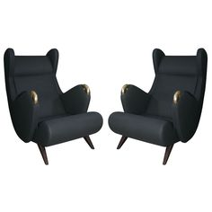 Erton Cadillac Chairs | From a unique collection of antique and modern wingback chairs at https://www.1stdibs.com/furniture/seating/wingback-chairs/