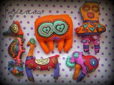 Muñeco. Pulpo. Llama. Elefante. Hipocampo