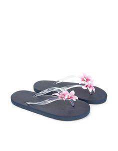 Flower Corsage Flip Flops