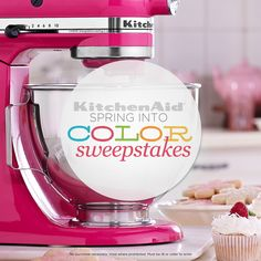 Enter QVC's Spring into Color Sweeps for a chance to win one of 3 KitchenAid 10-Speed Stand Mixers! No purchase necessary. Full rules here: http://qvc.co/KAColorRules