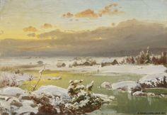 Fanny Churberg (Finnish, 1845 - Winter landscape (c. (via Finnish National Gallery) Helene Schjerfbeck, Helsinki, Cool Landscapes, Landscape Paintings, National Gallery, Art Museum, Art Gallery, Canvas, Land Art
