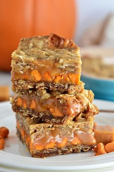 Whether for dinner guests, an after school snack, or even a late night treat, these Pumpkin Spice Carmelita Bars are the perfect way to satisfy a sweet tooth. Get the recipe at TidyMom.net