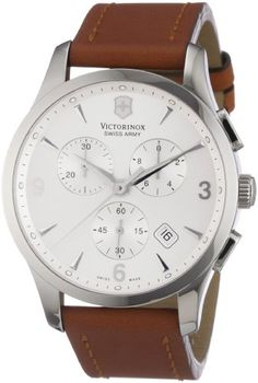 Victorinox Swiss Army Mens 241480 Alliance Silver Chronograph Dial Watch -- Details can be found by clicking on the image.