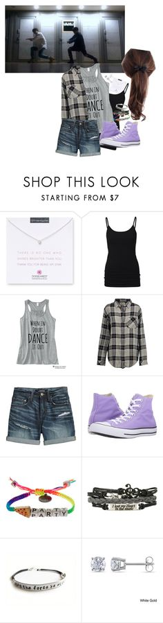 """""""Untitled #296"""" by realmissplush ❤ liked on Polyvore featuring Dogeared, Current/Elliott, Canvas by Lands' End, Converse, Venessa Arizaga, Hot Topic, Miadora and Journee Collection"""