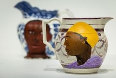 Swallow Hard: The Lancaster Dinner Service, 2007 by Lubaina Himid. https://www.theguardian.com/artanddesign/2017/sep/25/turner-prize-2017-exhibition-review-a-snake-infested-garden-and-fat-cats-on-horseback