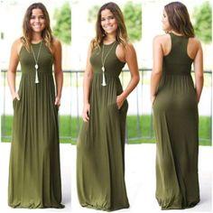 Plus Dresses, Elegant Dresses, Ladies Casual Dresses, Sleeveless Summer Dresses, Dress Casual, Women's Fashion Dresses, Dress Outfits, Long Summer Dresses, Mode Style