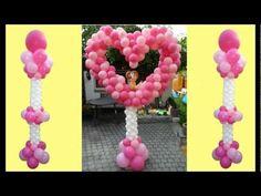 Balloon Flower Arch, Birthday, Decoration, Ballon Blume, Blumenbogen, Ballonbogen, Dekoration - YouTube