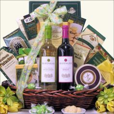 Little black dress valentines day wine gift basket designed caraway gift baskets duet gourmet easter wine gift basket 9995 http negle Images