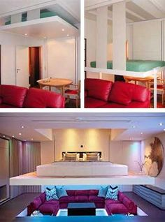 space saving furniture for small spaces, raising ceiling beds