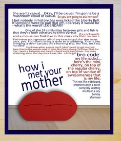 how i met your mother funny quote poster season one... 12x18. $15.00, via Etsy.