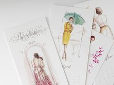 paper fashion calendar