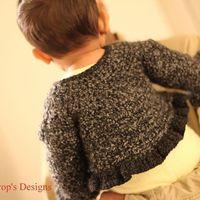 Baby Sweater Jacket Ruffles crochet jacket shrug Cute!