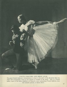 1950 Yvette Chauvire, Giselle, Serge Lifar, 1948, Vintage Black and White Print (37) Photograph by Baron (Sterling Henry Nahum)