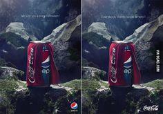 La falsa 'guerra' entre Pepsi y Coca-Cola que ha sorprendido a todo el mundo - Dando Guerrilla