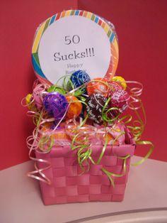 50 sucks Birthday arrangement for Lauri at work!!