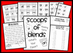 Scoops of Blends Phonics Reading Game from WorkaholicNBCT on… Phonics Reading, Reading Games, Teaching Phonics, Phonics Worksheets, Kindergarten Reading, Reading Strategies, Reading Activities, Reading Skills, Teaching Reading