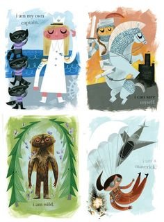 Cute posters for the girls' room. There are four more on the website.