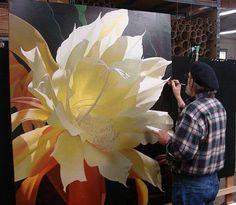 Brian Davis, artist at work Art Floral, Botanical Art, Artist At Work, Love Art, Painting Inspiration, Painting & Drawing, Amazing Art, Art Projects, Artsy