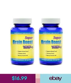 Vitamins & Minerals Brain Supplement Pills Nootropic Limitless Focus Memory Stimulate Mind 2 Pack #ebay #Fashion