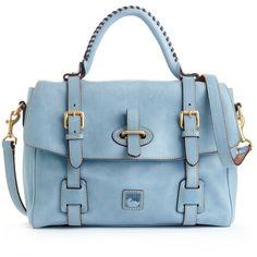 Dooney & Bourke Handbag, Florentine Flap Tab Satchel found on Polyvore