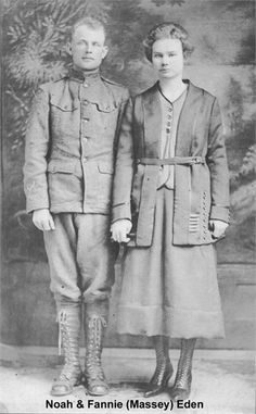 Noah Eden Sr and Fannie May Massey Eden - my paternal grandparents
