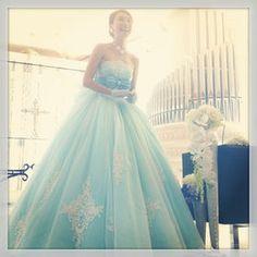 かわいすぎる水色カラードレスまとめ - NAVER まとめ