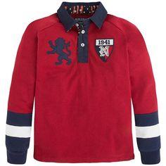 Mayoral Erkek Kışlık Uzun Kol T-shirt Kırmızı Long Sleeve Polo, Boys Shirts, Kids Wear, Boy Fashion, Kids Boys, Baby Boy, Full Sleeves, Rugby, Sweatshirts