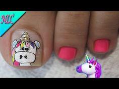Toe Nail Art, Toe Nails, Unicorn Nail Art, Nail Art Designs, Youtube, Beauty, Videos, Toe Nail Designs, Pretty Toe Nails