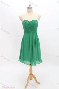 Green bridesmaid dresses  short bridesmaid dress / by KissyBride, $89.00