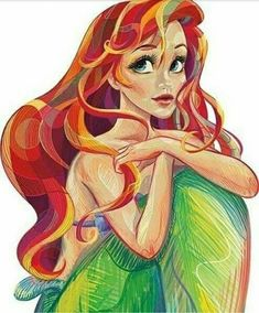 disney princess Ideas drawing cartoon disney characters little mermaids Cartoon Disney, Disney Kunst, Disney Fan Art, Disney And Dreamworks, Disney Pixar, Tinkerbell Disney, Punk Disney, Little Mermaid Cartoon, Little Mermaid Drawings