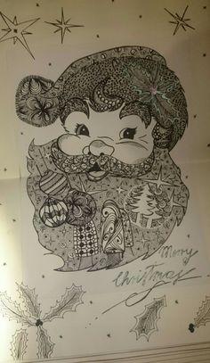 Zentangles - Weihnachtsmann