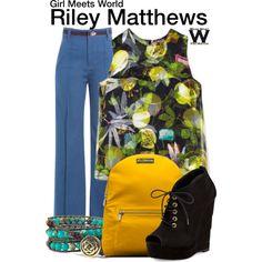 Inspired by Rowan Blanchard as Riley Matthews on Girl Meets World.