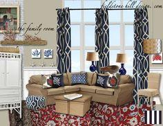 Design Boards :: The Family Room {on a dime} - Fieldstone Hill Design