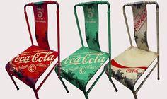 A linha de móveis vintage da Coca-Cola