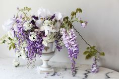 DIY: Garden Wisteria + Iris Summer Bouquet - decor8