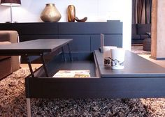 10 Coffee Tables for Couch Potato Dining Lift Up Coffee Table, Coffee Table To Dining Table, Cool Coffee Tables, Dinner Table, A Table, Tray Tables, Couch Potato, Adjustable Coffee Table, Convertible Coffee Table