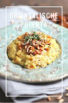 Orientalische Polenta mit Datteln, Pinienkernen und Möhren | Vegan