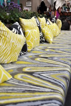 Fabric | Yellow & Black | Schumacher l Trina Turk