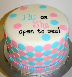 gender reveal cakes | Gender Reveal Cake :) - by ArtisticIcingCakes @ CakesDecor.com - cake ...