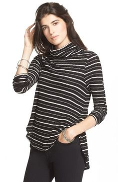 Free People Stripe Drippy Thermal Tee available at #Nordstrom