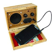 Cigar Box Smartphone/Cell Phone Amplifier Speaker - Great Loud Sound - Compatible with all modern sm Cigar Box Projects, Cigar Box Crafts, Making Musical Instruments, Homemade Instruments, Music Instruments, Radios, Altered Cigar Boxes, Wooden Cigar Boxes, Speaker Amplifier