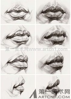 Pencil Portraits - Art Practice - Discover The Secrets Of Drawing Realistic Pencil Portraits.Let Me Show You How You Too Can Draw Realistic Pencil Portraits With My Truly Step-by-Step Guide.Email – marina com lippenciltutorialLips Drawing – 75 Pi Portrait Au Crayon, L'art Du Portrait, Pencil Portrait, Self Portrait Drawing, Drawing Portraits, Anatomy Sketches, Anatomy Art, Anatomy Drawing, Face Anatomy